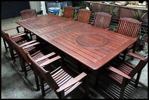 OUTDOOR FURNITURE SALE! - Quality 11 PCE Kwila dining setting Sydney City Inner Sydney Preview