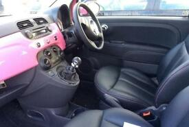 PINK FIAT 500 1.0 1.2 1.3 M/JET BYDIESEL POP LOUNGE SPORT S FROM £25 PER WEEK!