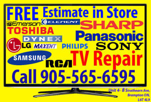 RCA TV Repair, Curved, Smart TV, LED, LCD, 3D, 4K, UHD, Plasma