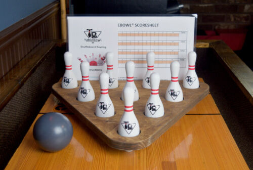 TableBowl Premium Oversize Shuffleboard Bowling Set - Medium