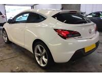 2012 WHITE VAUXHALL ASTRA GTC 1.6 T SRI 180 PETROL 3D HATCH CAR FINANCE FR £20PW