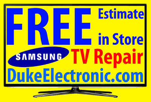 fre Samsung Smart TV, Curved, LED, LCD, 3D, 4K, Plasma TV Repair
