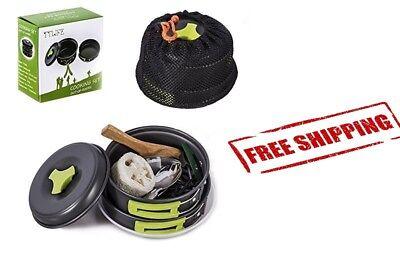 12 Pcs Camping Cookware Set Camp Cooking Kit Outdoor Gear Lightweight Compact
