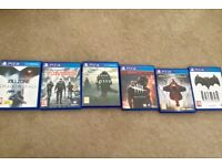 6 ps4 games in mint condition.