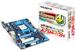 Brand New Gigabyte A75M-D2H Ultra Durable Motherboard
