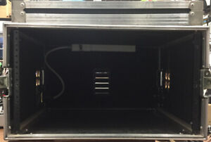 6 RU Road Case - wired with 6 outlet power bar