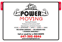 Power Moving- Professional Oakville Movers- FREE quotes