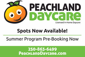 Licenced Peachland Daycare spots available