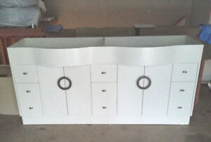 Never Used / Double Sink Vanity Cabinet / All Self Closing