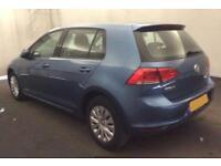 2015 BLUE VW GOLF 1.2 TSI 85 S PETROL MANUAL 5DR HATCH CAR FINANCE FR £37 PW