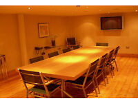 Bespoke large contemporary Solid Oak Boardroom / Conference / Dinner / Work Table.