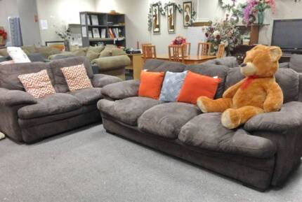 DELIVERY TODAY BEAUTIFUL 2X Sofas set lounge CHOCOLATE QUICK SALE Perth Region Preview