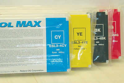 Roland Eco Sol Max New Sealed 440 Cyan-magenta-yellow-black