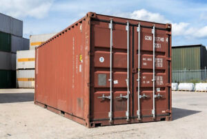 20' Standard Used Shipping Container, Wind & Weather Tight - NS