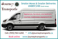 SMALL & MEDIUM MOVES - DELIVERY UNDER $100. T: (905) 964-6282