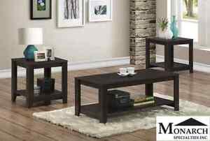 Brand NEW Espresso 3-Piece Table Set! Call 403.219.8886!