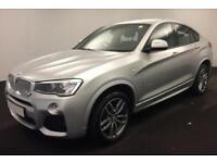 2016 SILVER BMW X4 3.0 XDRIVE30D M SPORT DIESEL AUTO COUPE CAR FINANCE FR £104PW