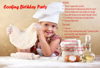 Kids Birthday Cooking Party