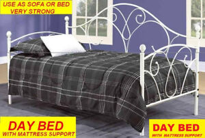 BRAND NEW STRONG METAL DAY BED SINGLE SIZE $349 ONLY.