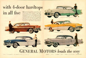 1956 Ad for General Motors 4-Door Hardtops