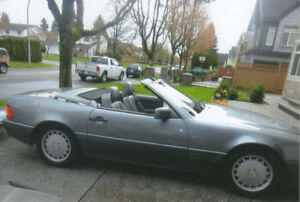 Grey/Grey 1990 Mercedes-Benz 300SL Hardtop/Softop Convertible