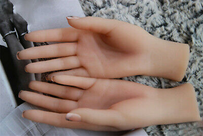 Female Hands Model Women Realistic Silicone Soft Mannequin Display Prop Double