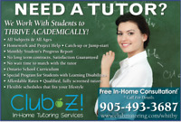 1-0n-1, In-Home Tutoring - Math,Science, French, English & More!