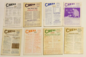 14 Vintage Chess Magazines, 70s and 80s. Some in Russian.