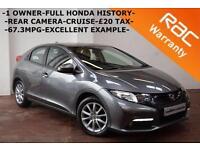 2013 Honda Civic 2.2i-DTEC ES -1 OWNER-FULL HONDA SERVICE HISTORY-CRUISE-B/TOOTH