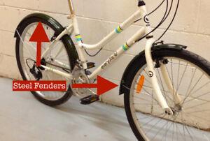 """Steel Bike Fenders 26"""" Wheel Vintage Raleigh Rat Rod Cruiser MXB"""