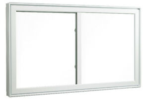 Fenetre PVC or Aluminum White Sliding Window 59 X 40 aprox.
