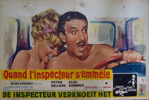 A SHOT IN THE DARK Belgian movie poster PETER SELLERS CLOUSEAU PINK PANTHER 1964