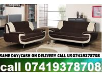 ZAP 50 % OFF ON SALE-----CWRAL WHITE AND BLACK3+2 SEATER SUITE