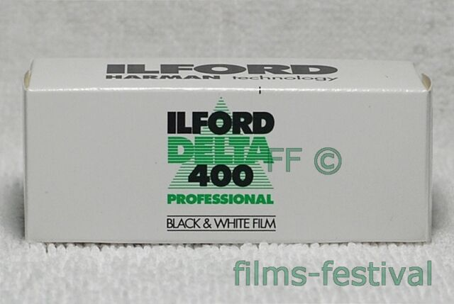 5 rolls ILFORD DELTA 400 Professional 120 Black and White Film B&W