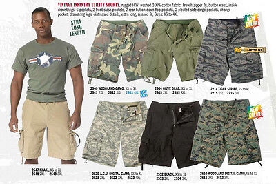 Woodland Olive Drab Tiger Stripe Black ACU Digital Camo Infantry Cargo Shorts ()