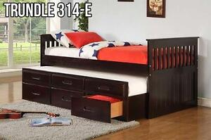 Captain Bed with Pullout Trundle (IF-314E) Great Kids Bed! Espresso, Cherry or White