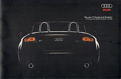 Audi TT Coupe & Roadster 2007 UK Market Sales Brochure 2.0 TFSi 3.2 Quattro