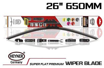Single 26 650mm HEYNER Premium aeroflat WIPER BLADE all type of fittings