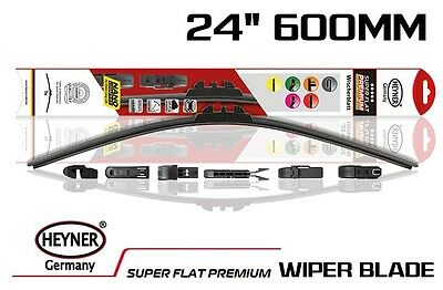 Single 24 600mm HEYNER Premium SUPER FLAT WIPER BLADE all type of fittings