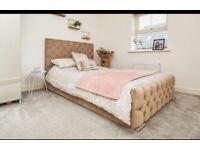 Double bed mauve