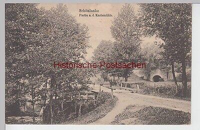 (90399) AK Schönlanke, Trzcianka, Partie a.d. Karlsmühle, Bahnpost 1915
