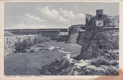 CYPRUS POSTCARD WALLS OF FAMAGUSTA MANGOIAN 1920 s
