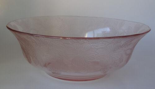 """Rare Pink Dogwood 9 5/8"""" Fruit Bowl"""