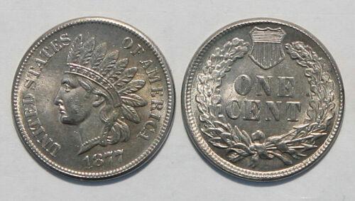 1877 Indian Head Novelty Penny