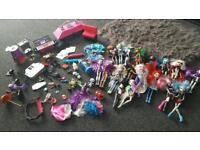 Monster high and bratzilla dolls and accessories