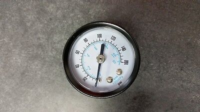 New Lot Of 8 Air Compressor Gauge 0-160 Psi 1-12 Face 14 In Mnpt Back Mount