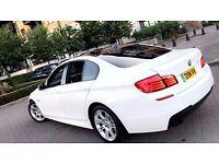 BMW 520D M SPORT Saloon, FSH, Widescreen IDRIVE, Alpine White, HPI Clear, DIESEL F10 msport 530d PX