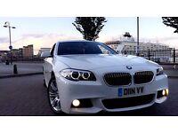BMW 520D M SPORT SALOON, FSH, WIDESCREEN IDRIVE, ALPINE WHITE, HPI CLEAR, DIESEL F10 msport 530d