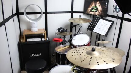 Drum Isolation Sound Proof Recording Booth 40db reduction !