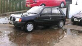 PEUGEOT 205 DIESEL GRD STARTS AND DRIVES WILL SELL COMPLETE OR BREAK FOR PARTS